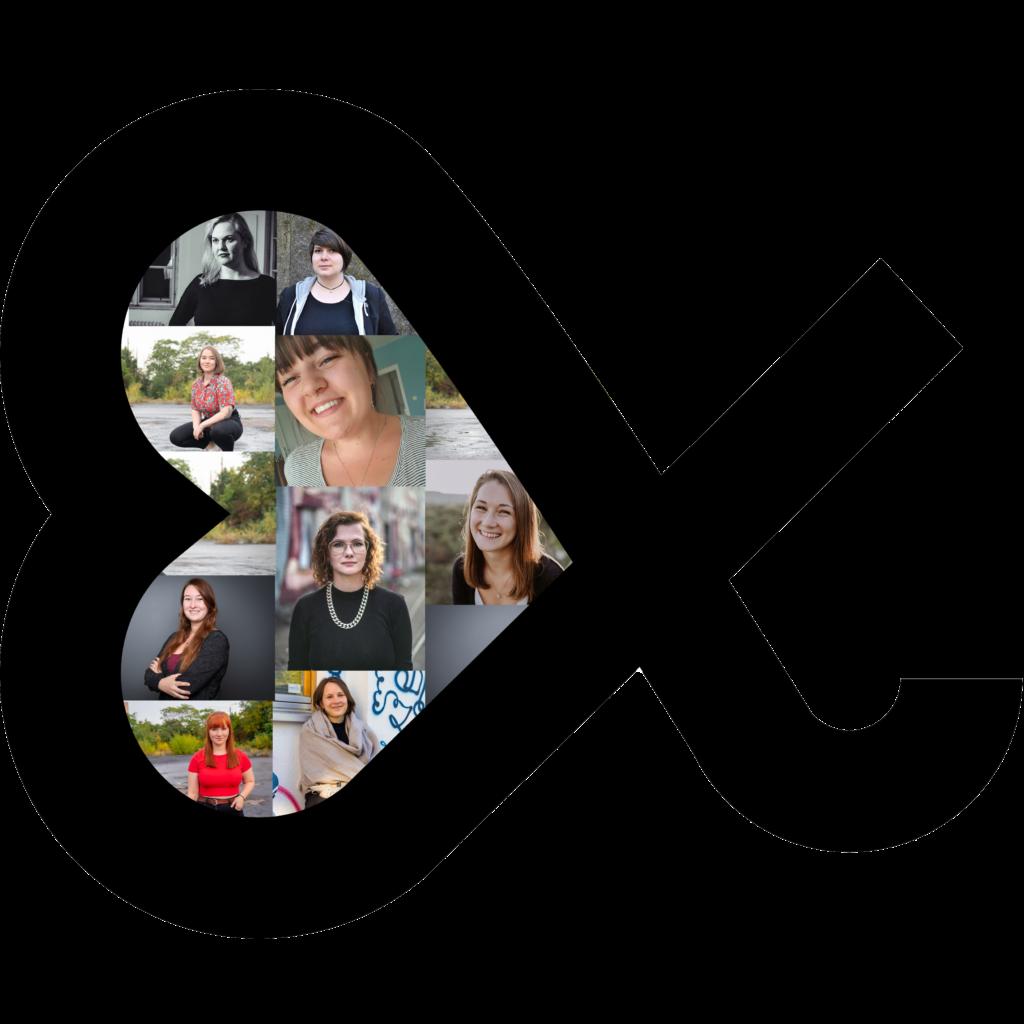 Bild zeigt das Logo der Slam Alphas mit den Gesichtern des Vorstands 2021