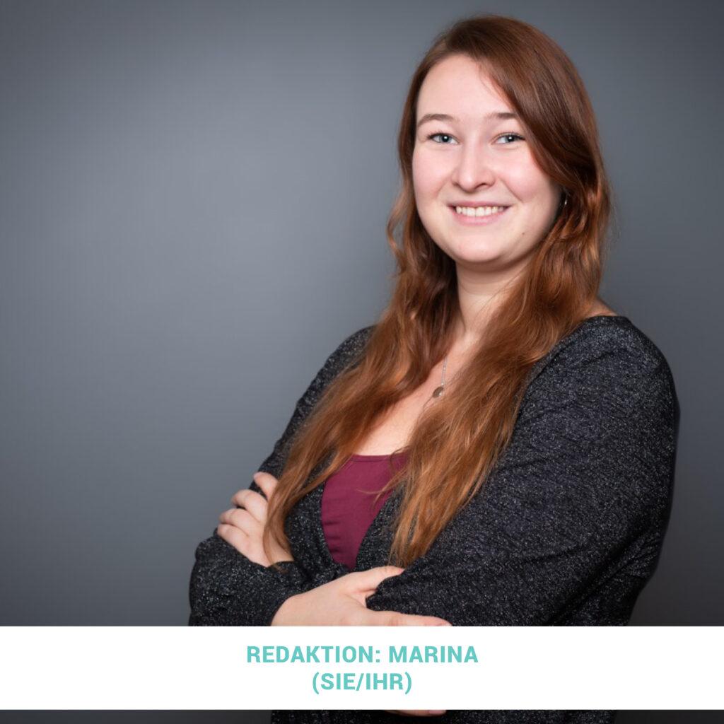 Das Foto ist ein Portrait von Marina Sigl